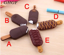 FGHGF cartoon ice cream usb flash drive pendrive 4GB 8GB 16GB 32GBu usb disk pen drive memory disk cute silicone