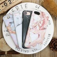 HOT Painted Marble Stone Phone Case Cover iphone X 8plus 7plus 6plus 5 5S Fashion Soft TPU Silicone Back Cover Capa Fundas