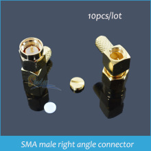 Sindax SMA connector SMA-JWC-3 SMA male right angle crimp for RG58 RG142 LMR195 RG400 RF Wire Coaxial Cable Terminal adapter