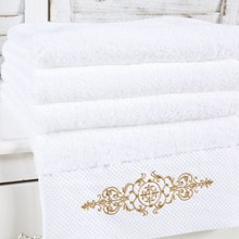 European style Pure White Bath towel Fabric Beach Towels Senior 100% Cotton Bathroom Towel Absorbent Soft 90x180cm