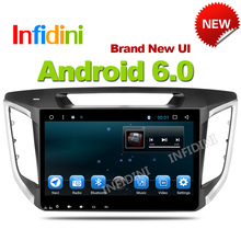 Infidini android 6.0 car dvd gps player 1024*600 For HYUNDAI IX25 CRETA 2014 2015 gps navigation car stereo audio video player