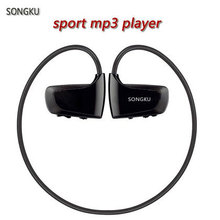 SONGKU W262 8GB Mp3 Player Sport MP3 Music Player Earphone Headphone Runing Gym Mp3 Player Free Shipping(China)