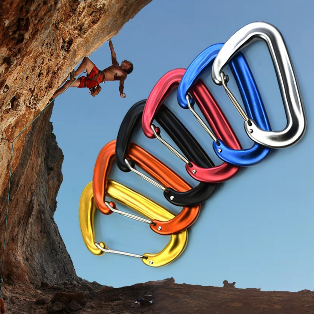 7075 Aluminum Climbing Buckle 12KN Hammock Safety Balance Carabiner ClaspDA