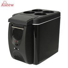 12V 6L Portable Mini Warming and Cooling Vehicle Refrigerator Car Freezer Fridge Hot and Cold Double For Car And Home Use