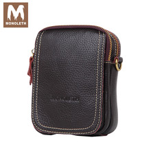 MONOLETH Top Genuine Leather Bag Men mini Shoulder Bags Crossbody Messenger Bag Small Casual Bag New Famouse Design W6002
