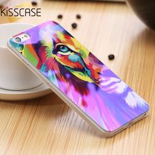 KISSCASE 5S Reflective Blue Light Soft TPU Case for iPhone 5S SE 5 Fancy Cute Artistic Back Cover for Apple iPhone 5S Silicone