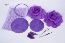 Wholesale Attractive multiple color purple DIY sinmay fascinator hat bridal fascinator for wedding Races party.FREE SHIPPING