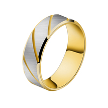 GORGEOUS TALE Personalized Name Fashion Jewelry Trendy Design Punk Yellow and Blue Color Bright Titanium Steel Ring for Men(China)