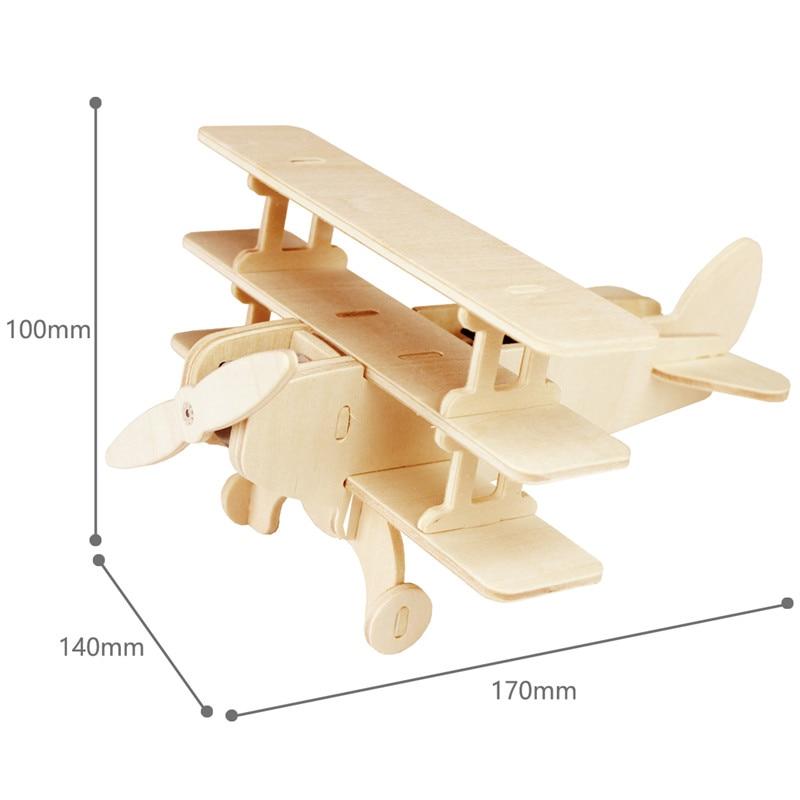 Robud 11 Kinds Solar Energy Powered Plane 3D Wooden Model Building Popular Creative Toys Hobbies Gift for Children,Teens P250 40