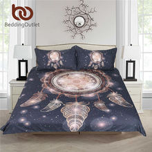 BeddingOutlet Dreamcatcher Bedding Set Twin Full Queen King Galaxy Golden Print Bohemian Bedclothes 3d Duvet Cover 3pcs Luxury