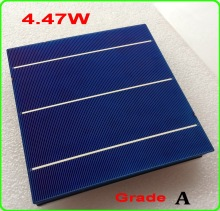 "4.47W 156mm 3BB Poly Solar Cell 100pc 19.00% High Efficiency Polycrystalline Solar Cells 6x6"" +enough PV Ribbon DIY solar panels(China)"