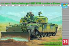 Trumpeter model scale model 1/35 00345  British Challenger MBT tank Assembly Model kits  Modle building scale model tank kit