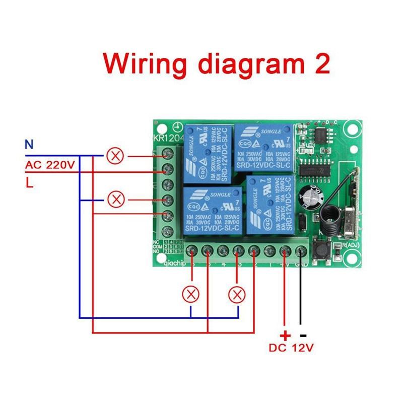 QIACHIP-433Mhz-DC-12V-4CH-Channel-RF-Relay-Wireless-Remote-Control-Switch-Receiver-Module-RF-Remote (3)