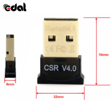 EDAL Mini USB Bluetooth Adapter V4.0 Dual Mode Bluetooth Dongle High Quaility Bluetooth Computer Adapter For Win 7/8/10/XP NEW(China)