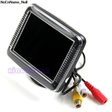 NoEnName_Null 2017 New 3.5 Inch TFT LCD Screen Monitor Reverse Camera Car Rear View Backup(China)