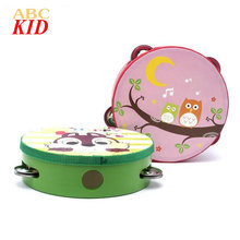 Cheap Stuff Newborn Handbell Baby Boy Girl Toy Musical Instrument Infants Percussion Educational Brinquedos Tambourine Toy KT016
