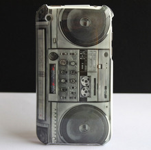 Retro Old Radio CASSETTE Player Design Hard Back Protective Skin Cover Case for Apple iPhone 3G 3GS coque New