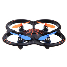U207 6 Axis Gyro 4CH Radio Controll mini Black Quadcopter UFO Toy with LED Light(China)