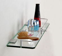 20 25 30 35 40 45 50cm single tier wall toilet glass bathroom shelf(China)