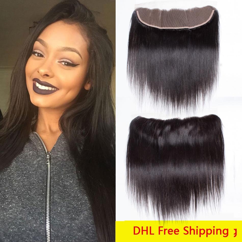 7a Brazilian Lace Frontal Closure 13x4 Brazilian Frontal Closure Straight 3 Part Lace Frontal Baby Hair Straight Ali Queen Hair<br><br>Aliexpress