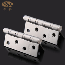 304stainless steel 4 inch stainless steel hinge hardware flat open door 3mm thick mute bearing lash hinge