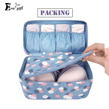New waterproof clothes organizer storage box underwear bra packing makeup make up organizer cosmetic cloth storage travel bags(China)