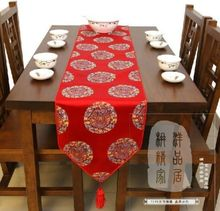 200*33cm wholesale BRAND NEW CHINESE style Classic Dragon SILK red TABLE RUNNER kitchen CLOTH BED FLAG