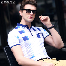 AIRGRACIAS New Brand Polos Mens Palid POLO Shirts Cotton Short Sleeve Camisas Polo Casual Stand Collar Male Polo Shirt 3XL