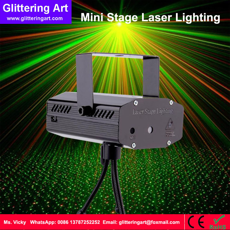 Mini red and green DJ Disco Light Stage Xmas Party show Laser Lighting projector DJ music laser machine<br>