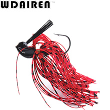 1PC Squid Bass Jigs Spinner Fishing Lures 7g 10g 14g Beard Tail Bass Baits with Big Single Hooks Fishing Tackle  FA-440