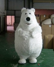ohlees Backkom bear polar cartoon mascot costumes Chirstmas party Halloween Fancy Dress Adult Size professional custom made(China)