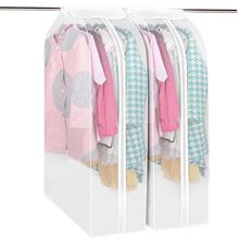 Clothes Garment Suit Cover Bags Hanging Organizer Storage Garment Suit Coat Dust Cover Protector Wardrobe Home Storage Bag(China)