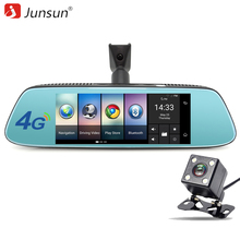 "Junsun 8"" 4G Newest Mirror Car DVR Camera Android 5.1 with GPS DVRs Automobile Video Recorder Rearview Mirror Camera Dash Cam(China)"