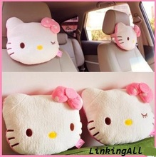 26*20cm High-quality hello kitty Car headrest neck pillow plush toys Stuffed dolls for girls kids toys gift