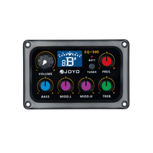 JOYO EQ-505 Digital 5 Band EQ Electric Acoustic Guitar Pickup Pick ups Preamp & Tuner with LCD Display Guitar Accessories(China)
