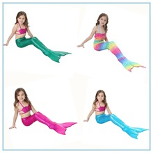 Baby Girls Kid Cosplay Mermaid Tail Dress Costume Vest Top Mermaid Tail Cloth Swimsuit Mermaid Costume Tail Without Monofin