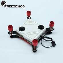 FREEZEMOD copper 60*60mm CPU water cooling block with white light slow flashing for IN TEL platform. IN TEL-PM04