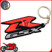 10pcs New motocross Keychain superbike moto racing Key rings Rubber Motorcycle Keyring for SUZUKI GSX-R600 GSX1300R