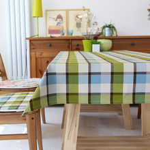 Multi-size Chinese style Cotton Plaid Table Cloth PAS Tablecloths Table Cover decoration customized Coffee table cloths gift(China)