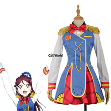 Love Live Sunshine Aqours Happy Party Train Nyamazing Sakurauchi Riko Uniform Dress Coat Shirt Outfit Anime Cosplay Costumes