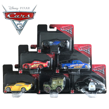 Disney Pixar Cars 3 Plastic Car Models Toy Lightning McQueen Speed Challenge Jackson Storm Dinoco Cruz Ramirez Car Toys For Kids