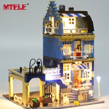 MTELE Brand Led Light Building Blocks Set For Factory City Street European Market Model Toy 15007 Compatible with lego 10190(China)