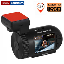 Conkim Mini 0805P Car Dash Camera 1296p 30fps H.264 WDR GPS DVR Video Registrar Parking Sensor Low Voltage Protection Capacitor(China)