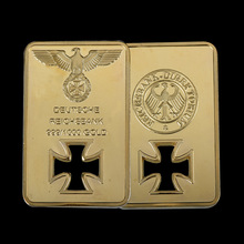 WR 24k 999.9 Quality Plated Gold Bar Eagle Metal Crafts Cross Home Decor Business Gifts Replica Bullion Collection Souvenir