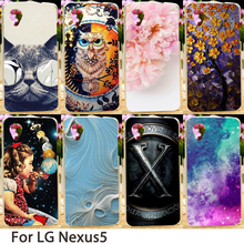 Soft Mobile Phone Cases For LG Google Nexus 5 E980 D820 4.95 inch Nexus5 D821 Flowers Hard Back Covers Skins Housings Sheath Bag