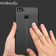 Coque For Huawei P9 Lite case Luxury Flip Leather TPU Soft Protective Back Cover For Huawei P9 Lite Phone Case slim bags shell(China)