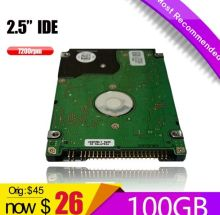 "A+++100GB HDD IDE 2.5"" HDD  PATA 100GB 7200RPM   HD  xbox 360 Notebook Hard Disk Drive interno Disco Duro Hot Selling"