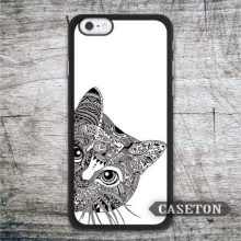 Lovely Eavesdropping Cat font b Case b font For font b iPhone b font 7 6