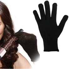 1 Pcs Professional Heat Resistant Glove Hair Styling Tool For Curling Straight Flat Iron Black heat glove for curling iron(China)