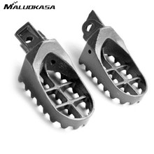 MALUOKASA Motorcycle Pair Steel Race Foot Pegs Footrest For Kawasaki KDX 200 220R/KDL250/KX 125 250 500 1991-2000 2001 2002 2003